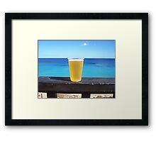 Beer in the sun Framed Print