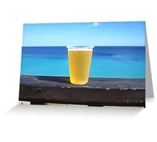Beer in the sun Greeting Card