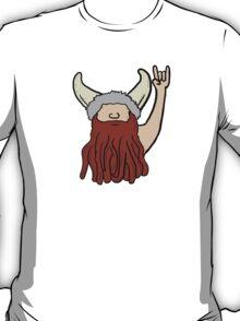 Rock on cartoon funny viking T-Shirt