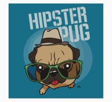 Hipster Pug cartoon by DogiStyle