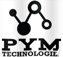 Pym Technologies Logo Black Poster