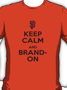 Brandon - Keep Calm (Black on Orange) T-Shirt