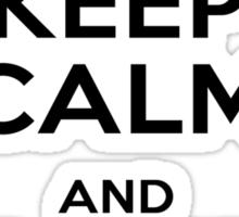 Brandon - Keep Calm (Black on Orange) Sticker