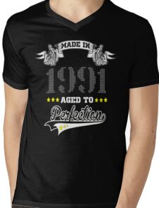 made in 1991-aged to perfection Mens V-Neck T-Shirt