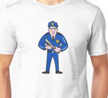 Policeman With Night Stick Baton Standing Unisex T-Shirt