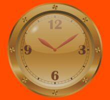 Golden Clock - Steampunk Kids Tee
