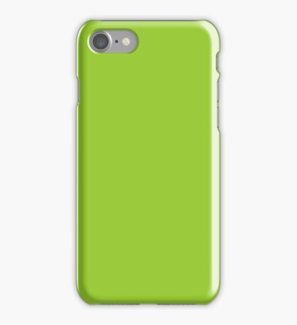 PURE COLOR-YELLOW GREEN iPhone Case/Skin