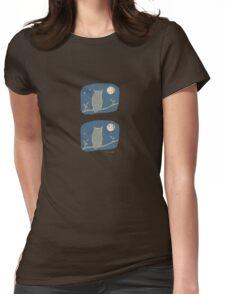 Owl Light Womens Fitted T-Shirt