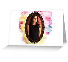 Aubrey Plaza Realistic Greeting Card