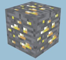 Minecraft Gold Ore Block by ReverendBJ