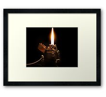 The Great Fire of Zippo Framed Print