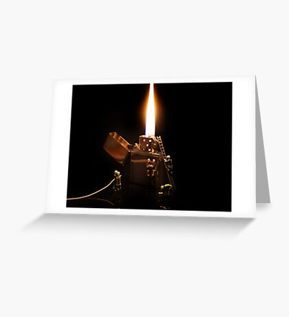 The Great Fire of Zippo Greeting Card