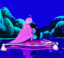 Aladdin: A Whole New World Print by pyjamaszoidpics