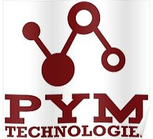 Pym Technologies Logo red Poster
