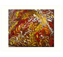 Phoenix Fire Flower Art Original Oil Painting by Ekaterina Chernova Art Print