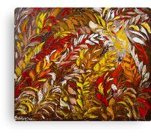 Phoenix Fire Flower Art Original Oil Painting by Ekaterina Chernova Canvas Print