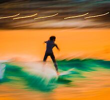 Surfers In motion by manuelc