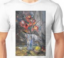Still Life with Red Flowers Unisex T-Shirt