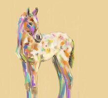 Foal paint by Go van Kampen