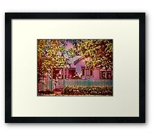 Rosevine Cottage Framed Print