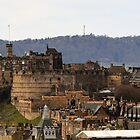 Edinburgh Castle from Salisbury Crags, Scotland by Miles Gray