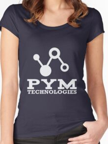 Pym Technologies Logo Silver Women's Fitted Scoop T-Shirt