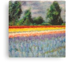Spring Flowers Landscape Impressionism Fine Art 1 of 3 Canvas Print