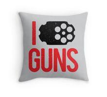 I heart Guns Throw Pillow