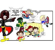 Chibi Avengers Photographic Print