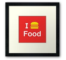 I heart Food Framed Print