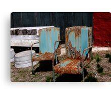 Chair Blossoms  Canvas Print