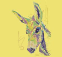 Cute t-shirt color donkey by Go van Kampen