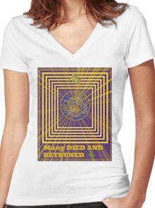 many retruned Women's Fitted V-Neck T-Shirt