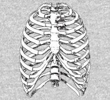 Human Anatomy: Rib Cage One Piece - Long Sleeve