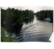 Silver Light and Ripples - Thousand Islands, Saint Lawrence River Poster