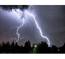 big lightning Photographic Print