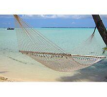 Hammock - Le Tahaa Island Photographic Print