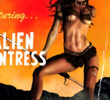Adventure Stories the Alien Huntress Sticker