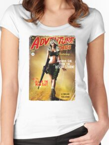 Adventure Stories the Android Girl from the Desert Storm Women's Fitted Scoop T-Shirt