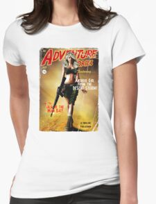 Adventure Stories the Android Girl from the Desert Storm Womens Fitted T-Shirt