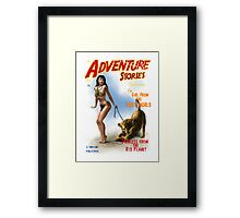 Adventure Stories The Girl from the Lost World Framed Print