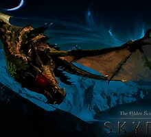 Skyrim Dragon by Jordan Garvey