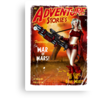 Adventure Stories The War of Mars Canvas Print