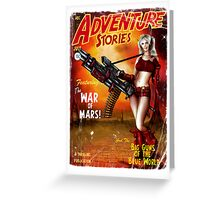 Adventure Stories The War of Mars Greeting Card
