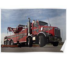 Santa Fe Tow Kenworth Big Rig Tow Truck Poster