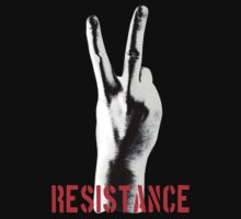 Resistance Two Fingers by artpirate