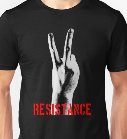 Resistance Two Fingers Unisex T-Shirt