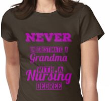 Nurse - Grandmother Womens Fitted T-Shirt