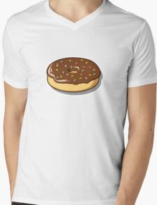 Chocolate Donut with Sprinkles Mens V-Neck T-Shirt