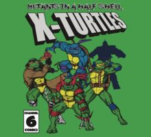X-Turtles, Mutants in a half shell (Colab with RPAdame) Kids Tee